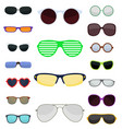 fashion set sunglasses accessory sun spectacles vector image vector image