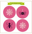 Flat Scary Spider Website Icons Set vector image vector image