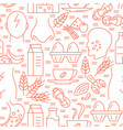food allergy seamless pattern in line style vector image vector image
