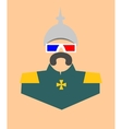 German infantryman in stereo glasses vector image vector image