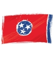 Grunge Tennessee flag vector image vector image