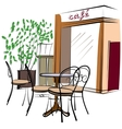 Hand Drawn Paris Cafe vector image vector image