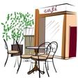 Hand Drawn Paris Cafe vector image
