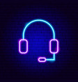hands free kit neon sign vector image vector image