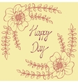 Happy day Vintage background with ancient flowers vector image vector image