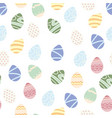 happy easter background easter egg seamless vector image