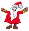 happy santa claus christmas character vector image