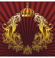 heraldic composition vector image vector image