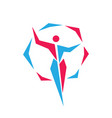 human woman logo design fitness sport active vector image vector image