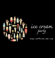ice cream party vector image vector image