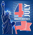 independence day 4 july poster design template vector image