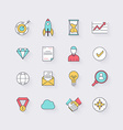 line icons set in flat design elements business vector image