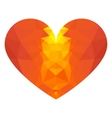low poly red heart vector image vector image