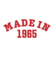 made in 1965 lettering year birth or a vector image vector image