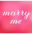 Marry me lettering Cute handwriting vector image vector image