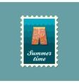 Men Beach Shortsl flat stamp vector image vector image
