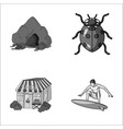 mountain trade and other monochrome icon in vector image vector image