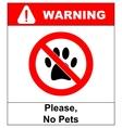 no pets icon pets forbidden vector image vector image