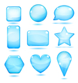 Opaque blue glass shapes vector image