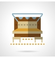 Outdoors cafe-bar flat color design icon vector image