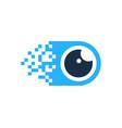 pixel eye logo icon design vector image vector image
