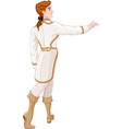 prince looks after the fleeing cinderella vector image vector image