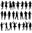 set beautiful fashion girl and men silhouette on a vector image vector image