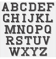 set of stylized retro font on the background vector image vector image