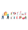 set people prepare for new year and christmas vector image vector image