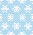 Snowflakes on blue background seamless pattern vector image vector image