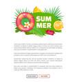 summer summertime sale banner vector image vector image