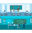 Teacher Banner Set vector image