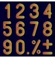 The numbers of bands on a black background vector image vector image