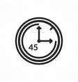 the symbol of forty five minutes vector image vector image