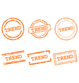 Trend stamps vector image vector image