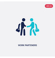 two color work parteners icon from business vector image vector image