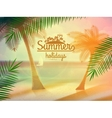 Vintage poster of tropical beach vector image vector image