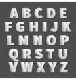 Volume 3D alphabet letters vector image vector image