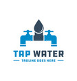 water tap logo vector image