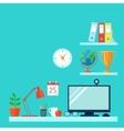 Workspace In Room vector image vector image