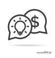 idea money outline icon black color vector image