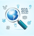 search engine seo concept vector image