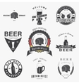 Beer pub set Beer festival Oktoberfest Brewing vector image