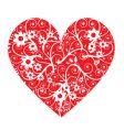 floral heart shape vector image