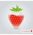 strawberry fruit juice vector image