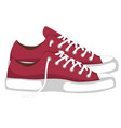 a pair of red fashionable woman s shoes snickers vector image