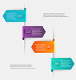 Abstract 3D digital Infographic can be used for vector image vector image
