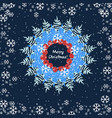 abstract christmas round design vector image vector image