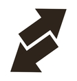 arrows opposite ways icon vector image vector image