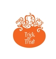 Boo Trick Or Treat card design vector image